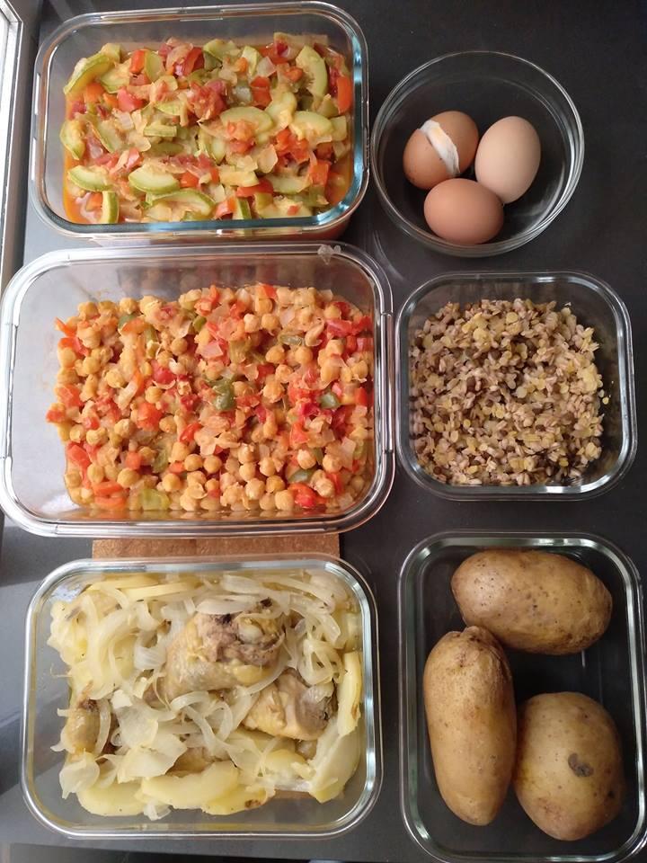 Cocinar y a guardar. Con esto bien se pueden improvisar cenas y comidas saludables
